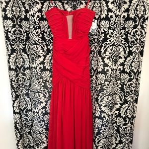Red floor length gown homecoming formal weddings